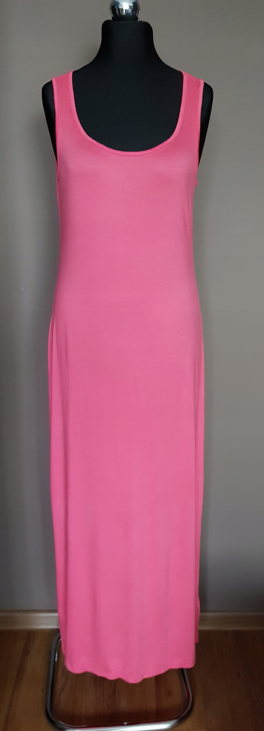ATMOSPHERE sukienka długa maxi malinowa różowa 44