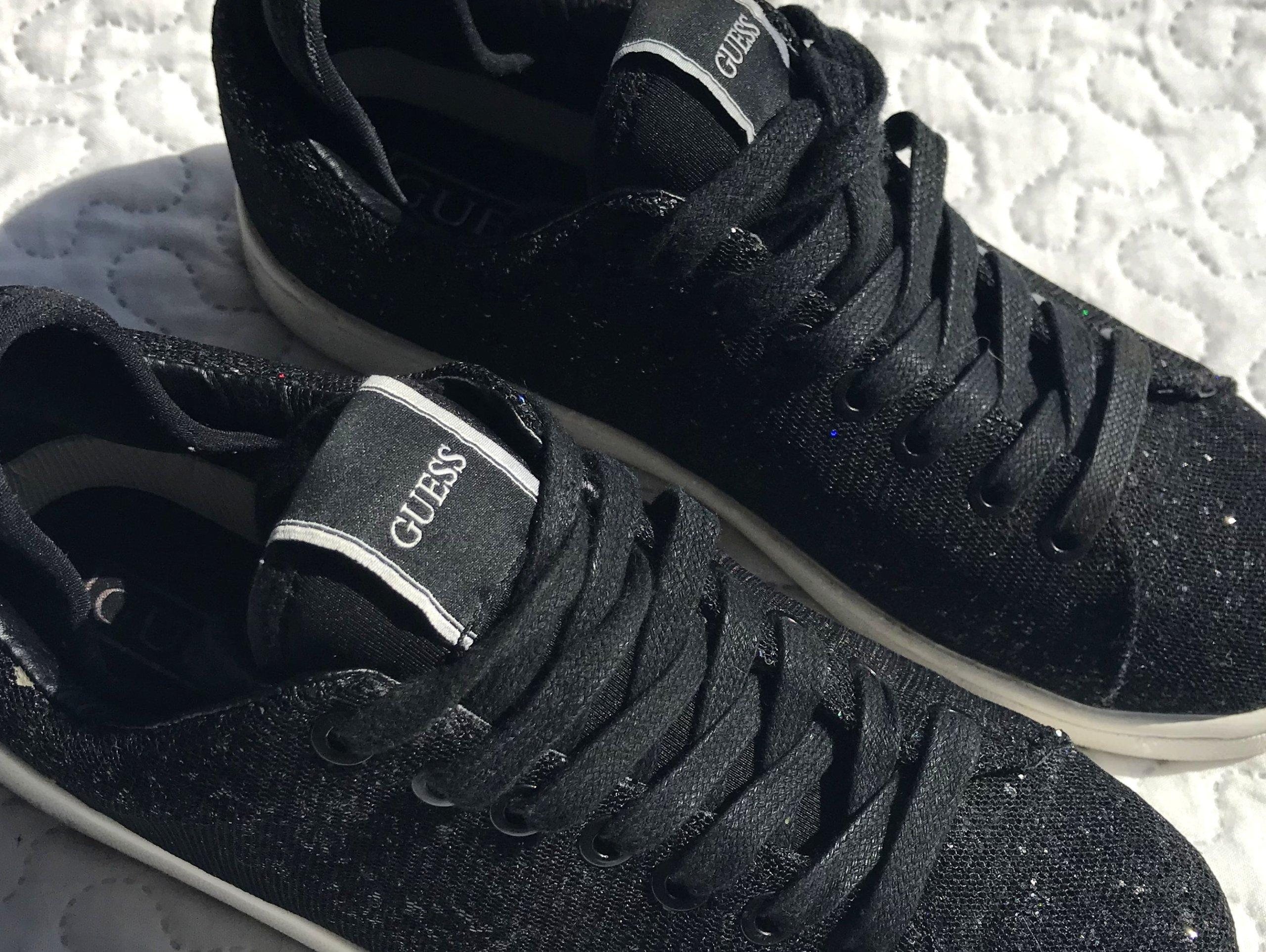 Masywnie Buty GUESS sneakersy adidasy brokat bling jak nowe - 7307958201 RQ64