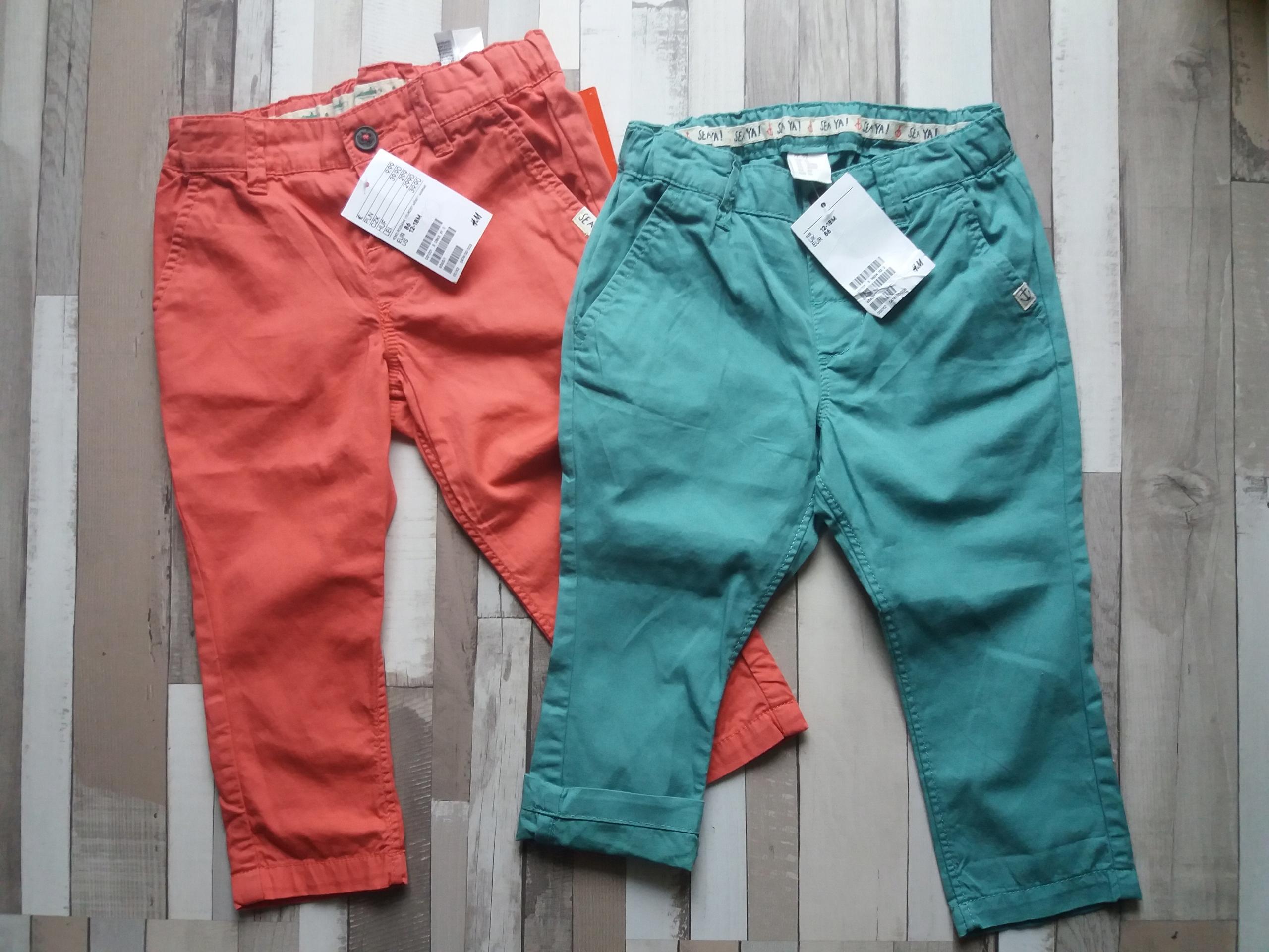 NOWE 2 pary spodni chinos marki h&m r. 86