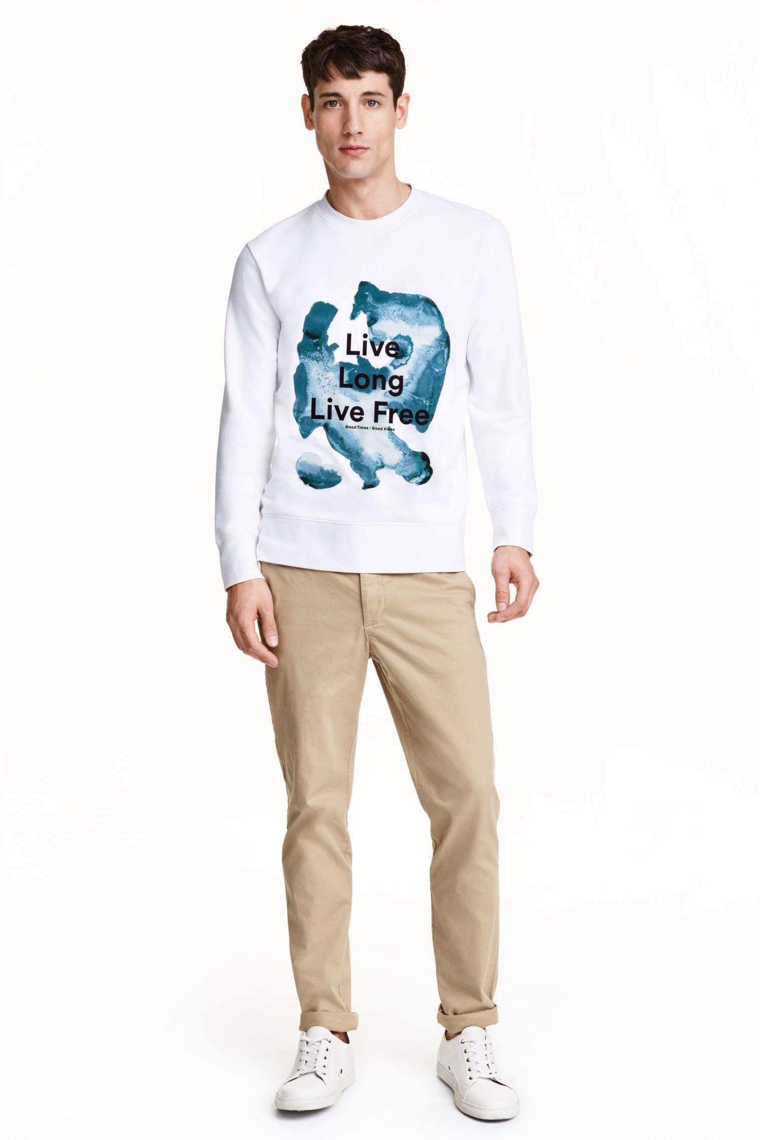 H&M CHINO CHINOSY SLIM LEG beż duże W36 38 REG