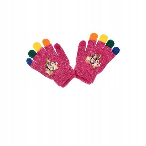 rękawiczki soy luna podwójne kolorowe różowe
