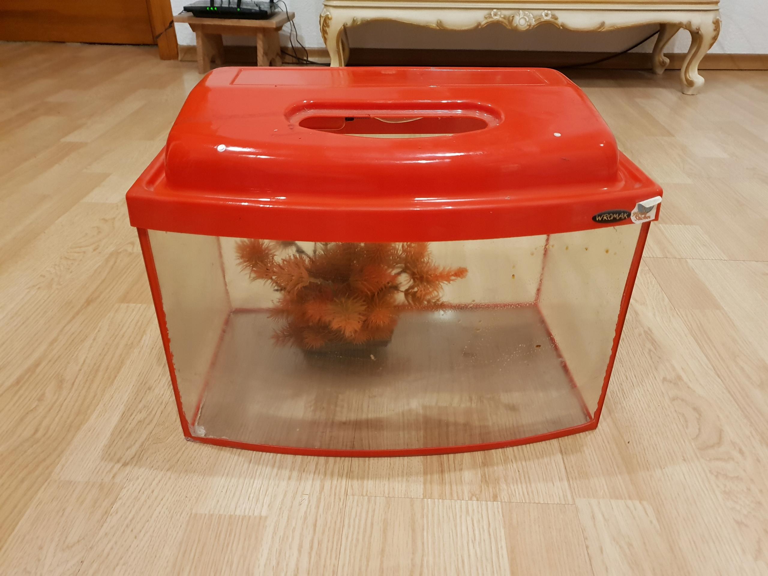 Akwarium ok20l czerwone