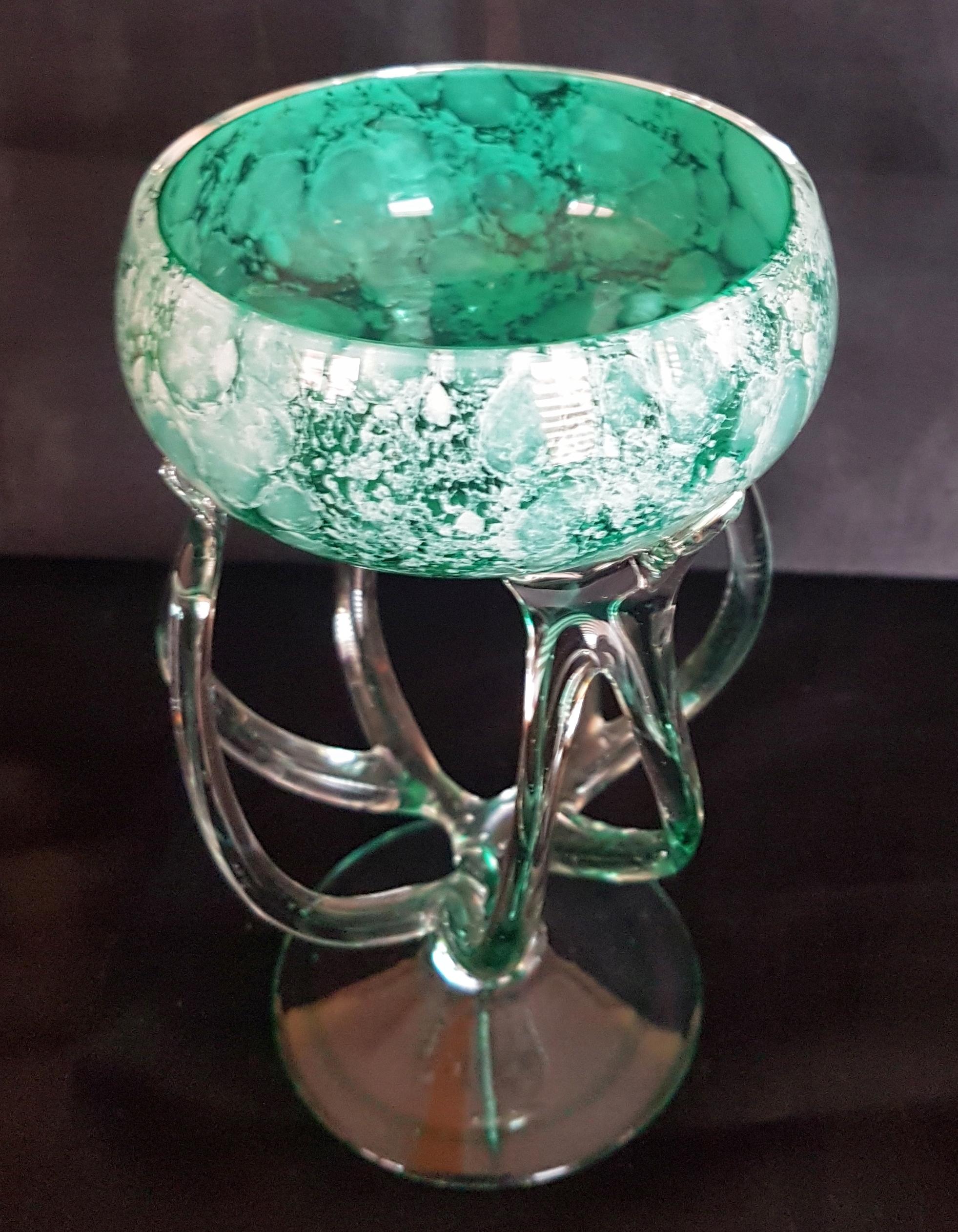 Art Deko Szkło Puchar 16 Cm Michelangelo Design