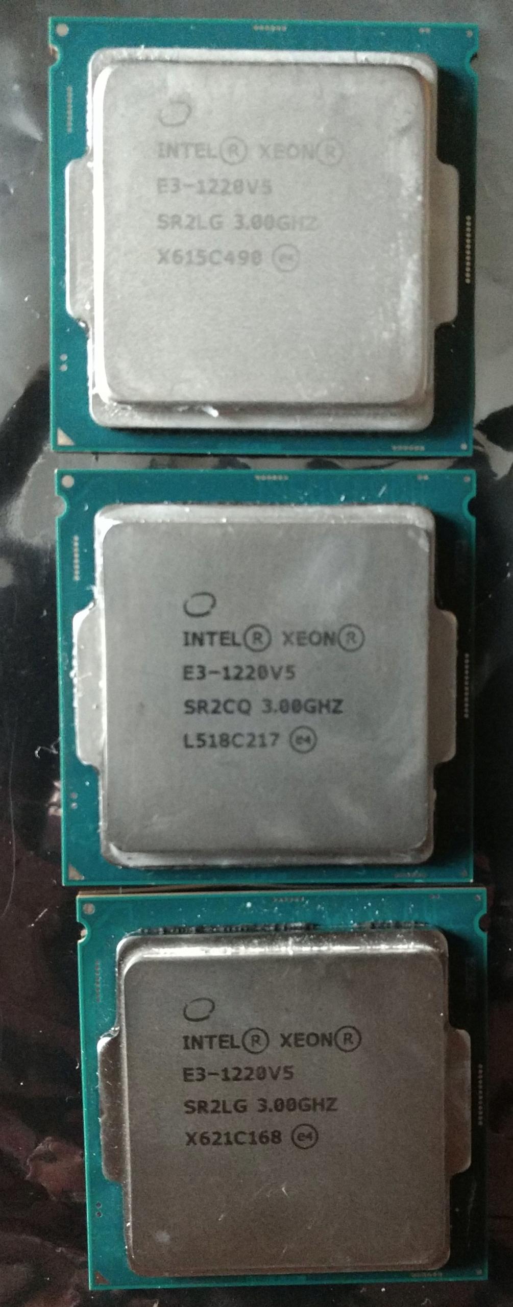 3 x Procesor Intel Xeon E3-1220 v5 3.00GHZ