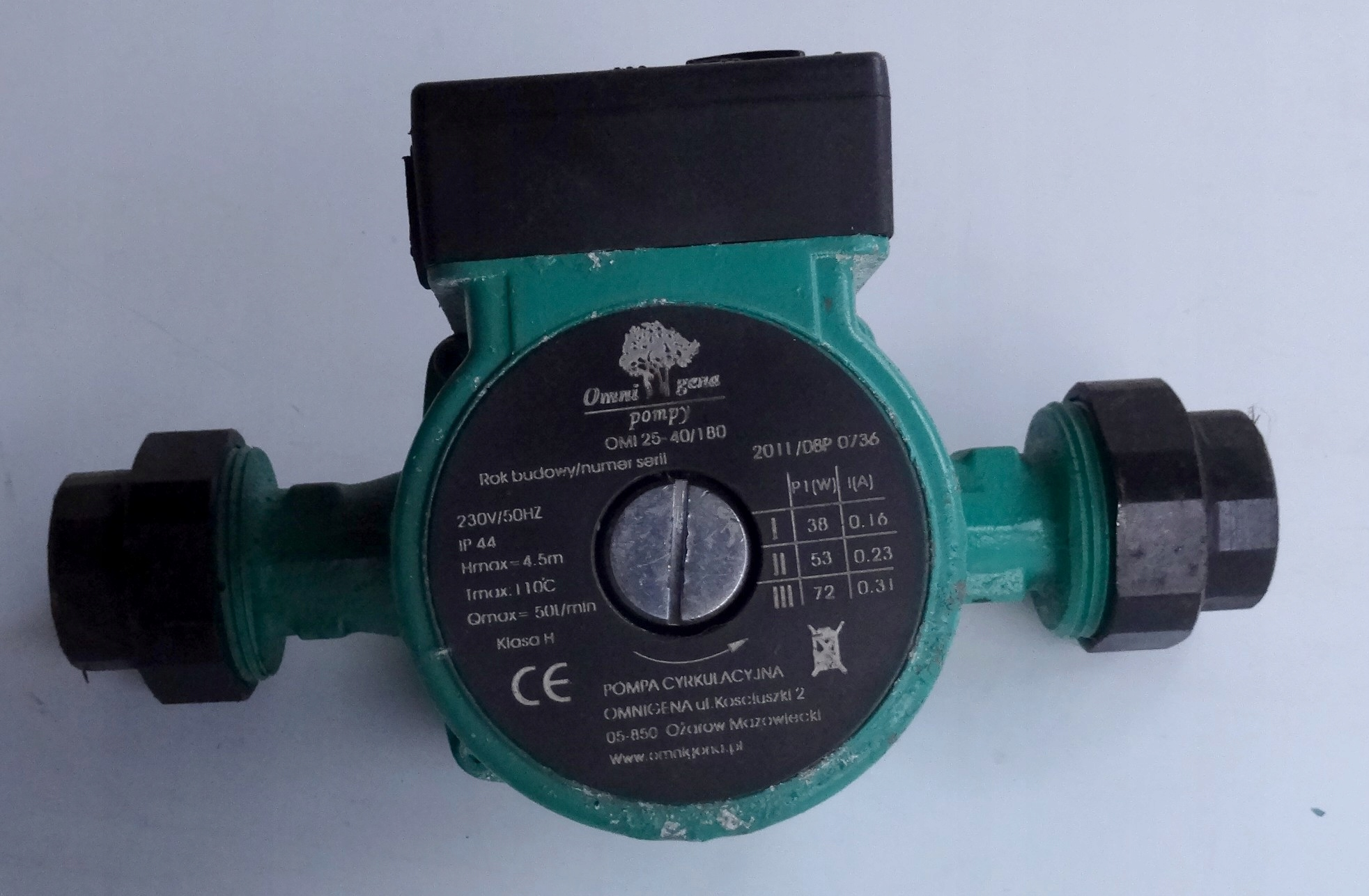 Pompa obiegowa do instalacji CO OMI 25-40/180
