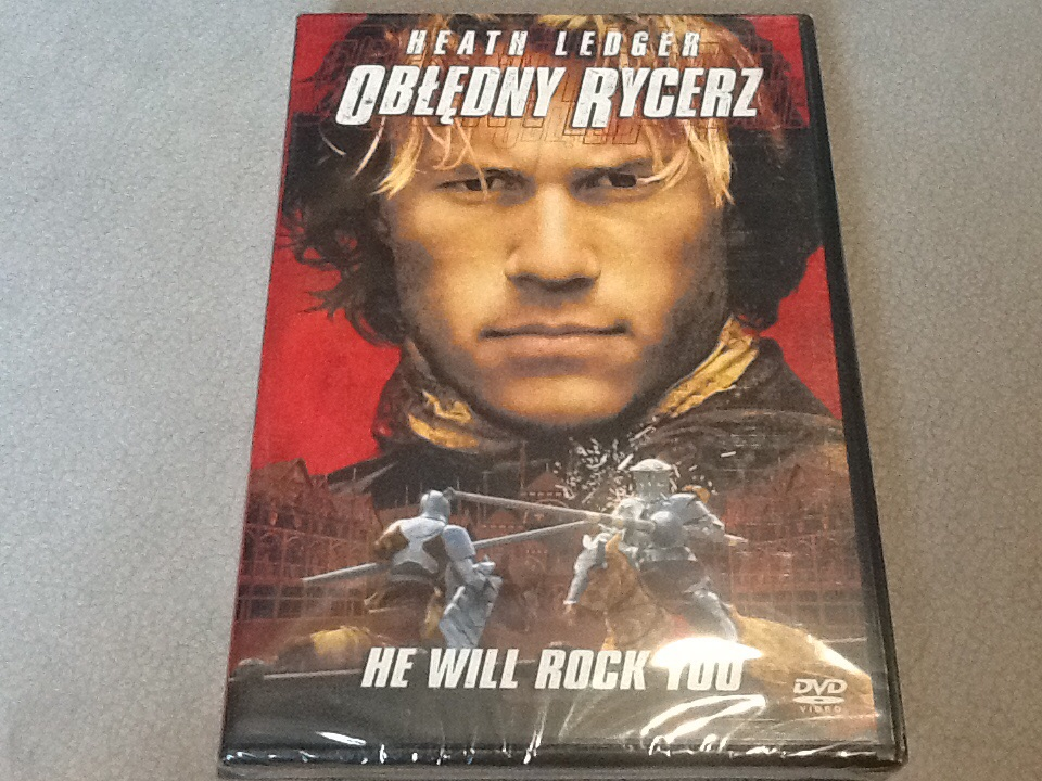 Obłędny Rycerz DVD Heath Ledger folia