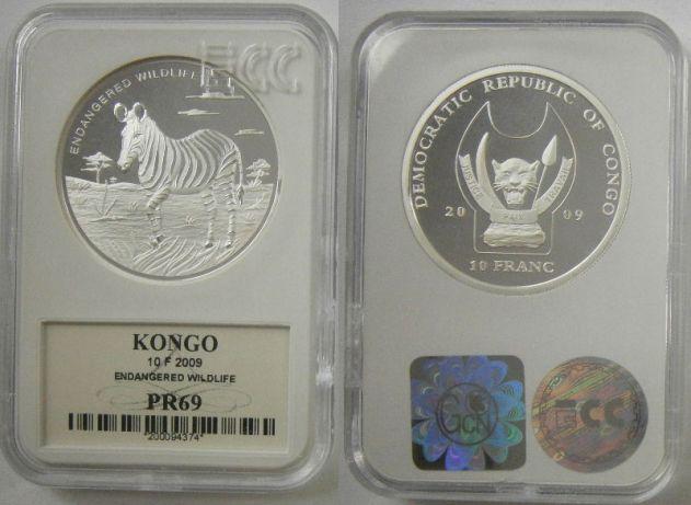 Congo 10 frankow Zebra 2009r