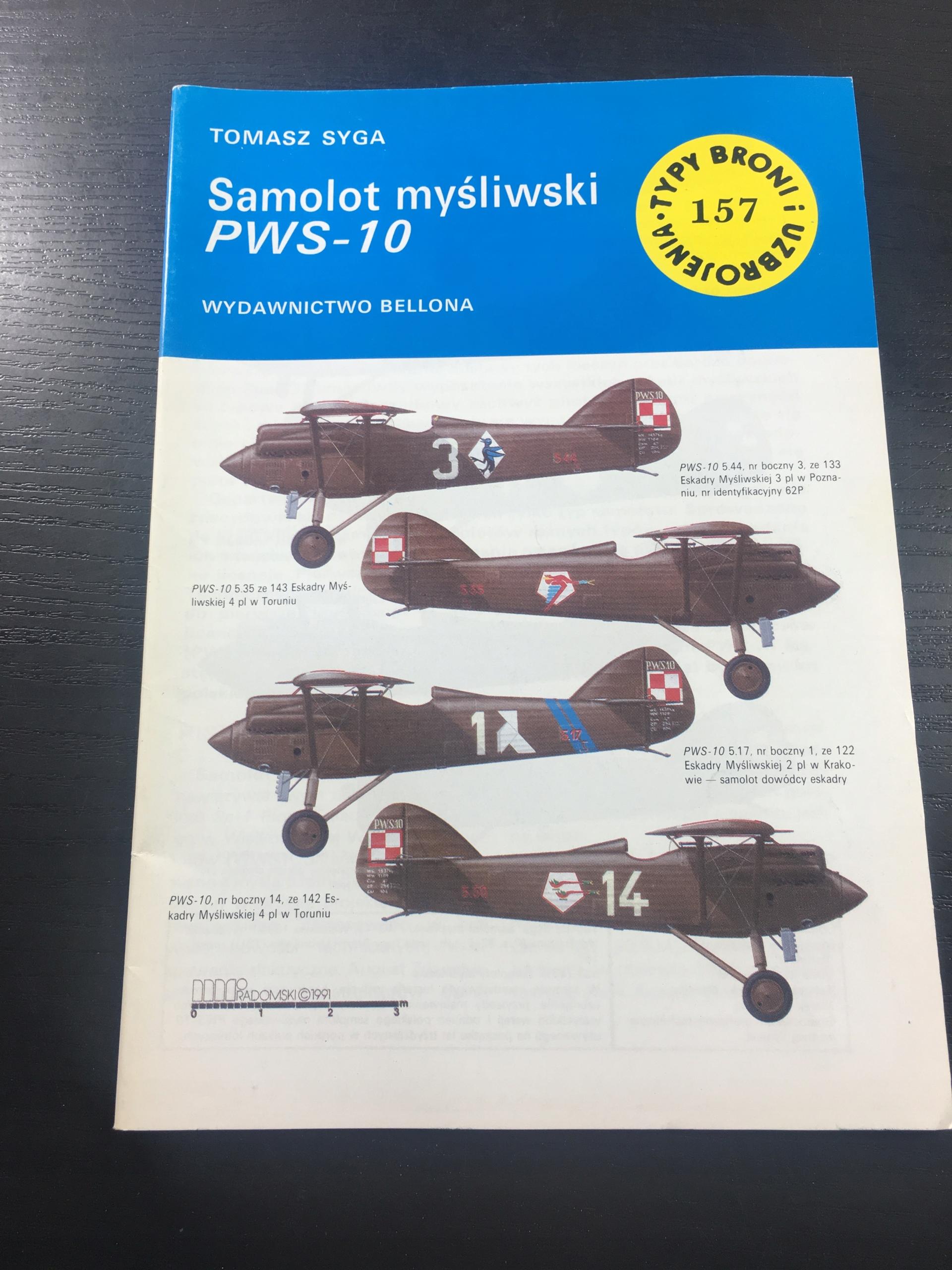 TBiU 157 SAMOLOT MYŚLIWSKI PWS-10