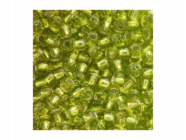 50 g : koraliki Toho round silver-lined lime gre..