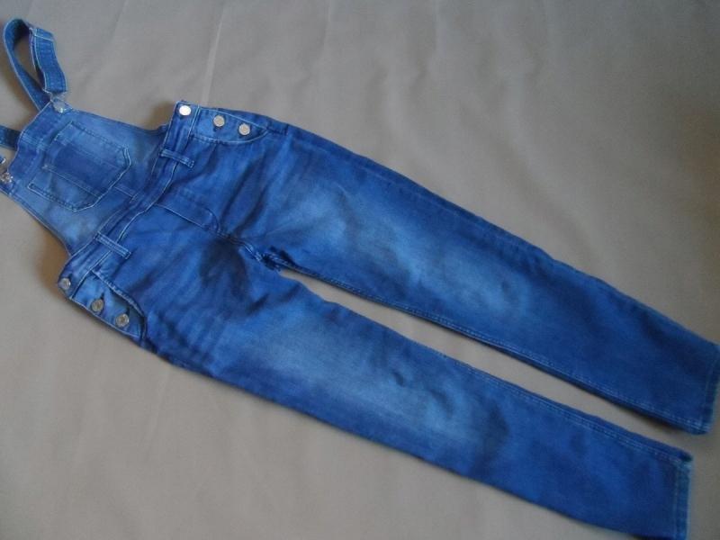 H&M ogrodniczki jeansowe rozm.146