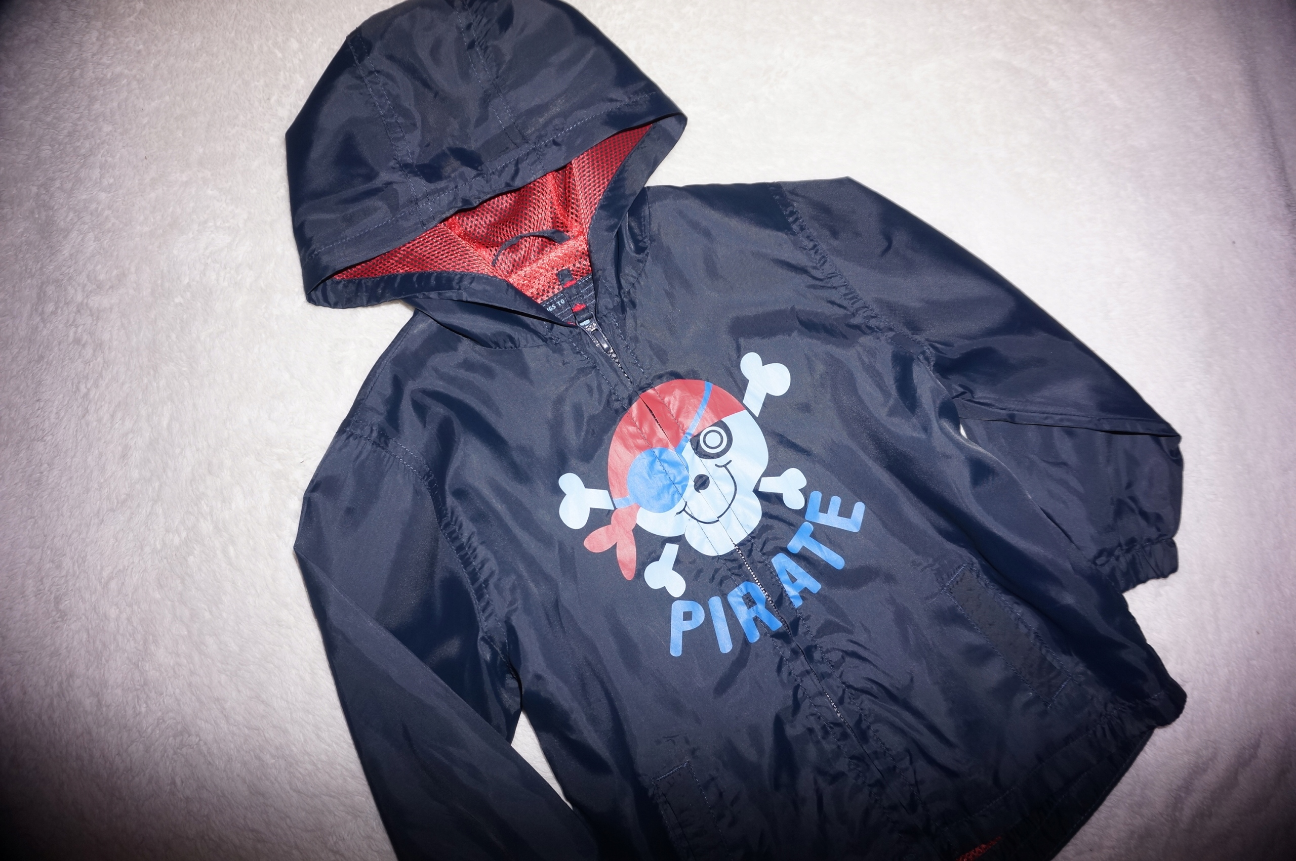 TU super KURTKA 92-98 wiatrówka granat pirat