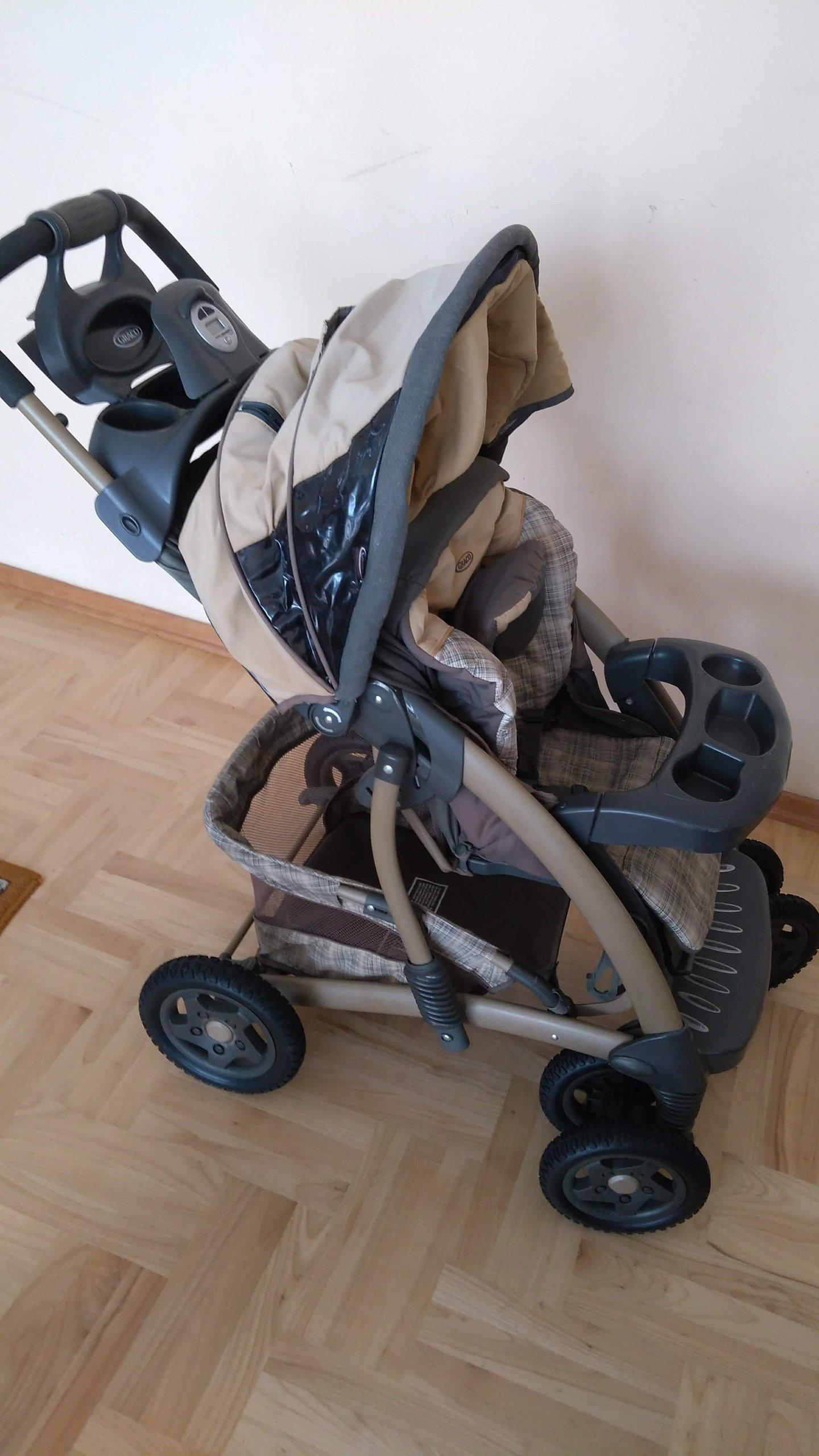 Wozek Graco Quattro Tour Deluxe 4w1 Fotelik Baza