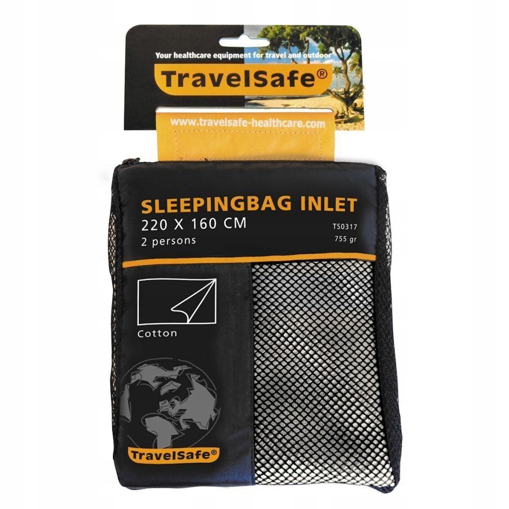 Travelsafe Wkładka do śpiwora typu koperta dla 2 o