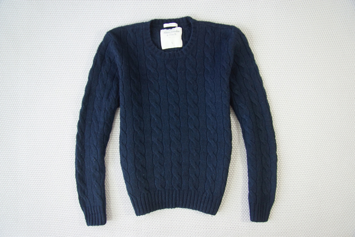 ABERCROMBIE&FITCH - MUSCLE MĘSKI SWETER - S