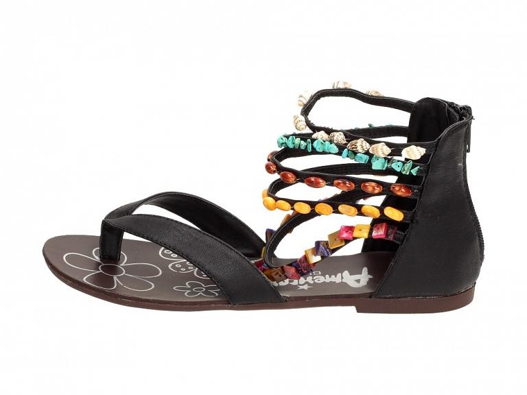 Czarne sandały damskie AMERICAN CLUB 10474 r39