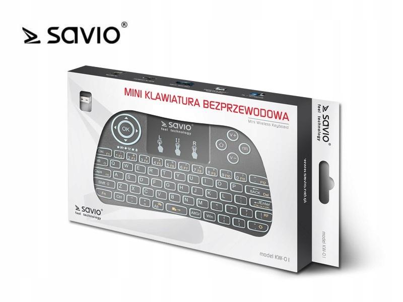 SAVIO KW-01 Klawiatura bezprzewodowa Android,,,,