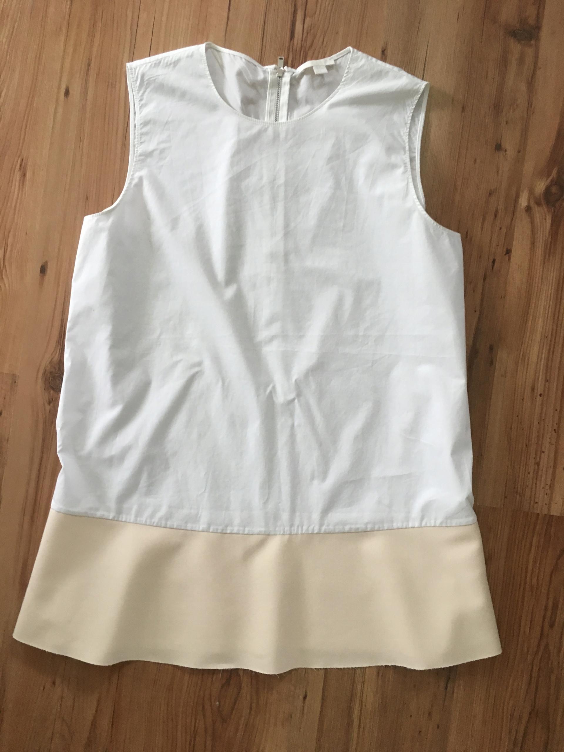 COS biała two-tone bluzka 38 bawełna