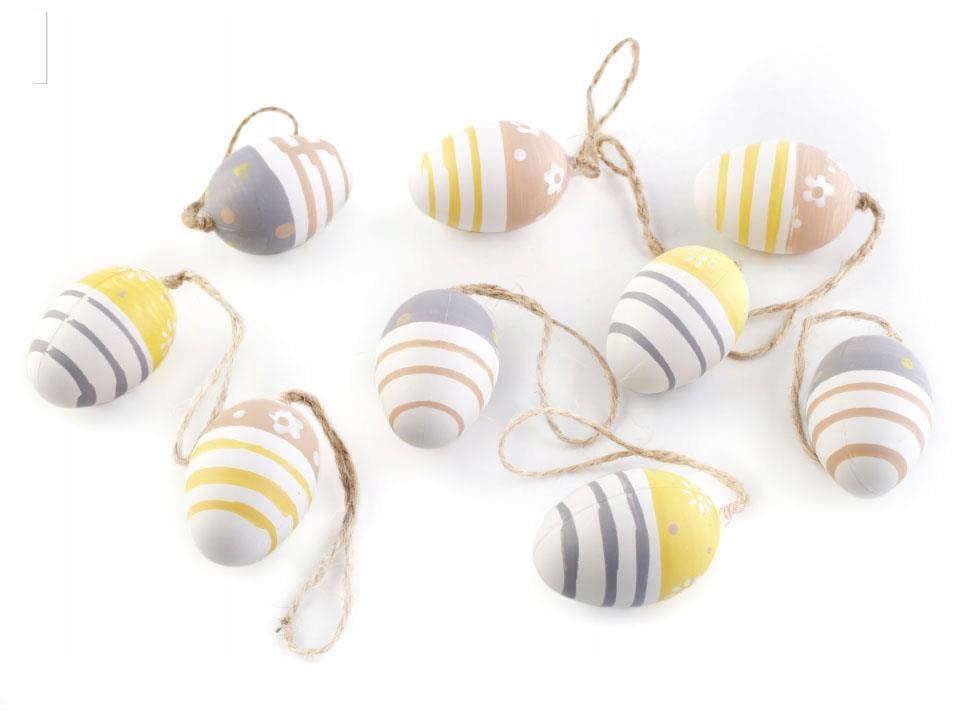 Jajeczka wielkanocne mniejsze zestaw 9szt