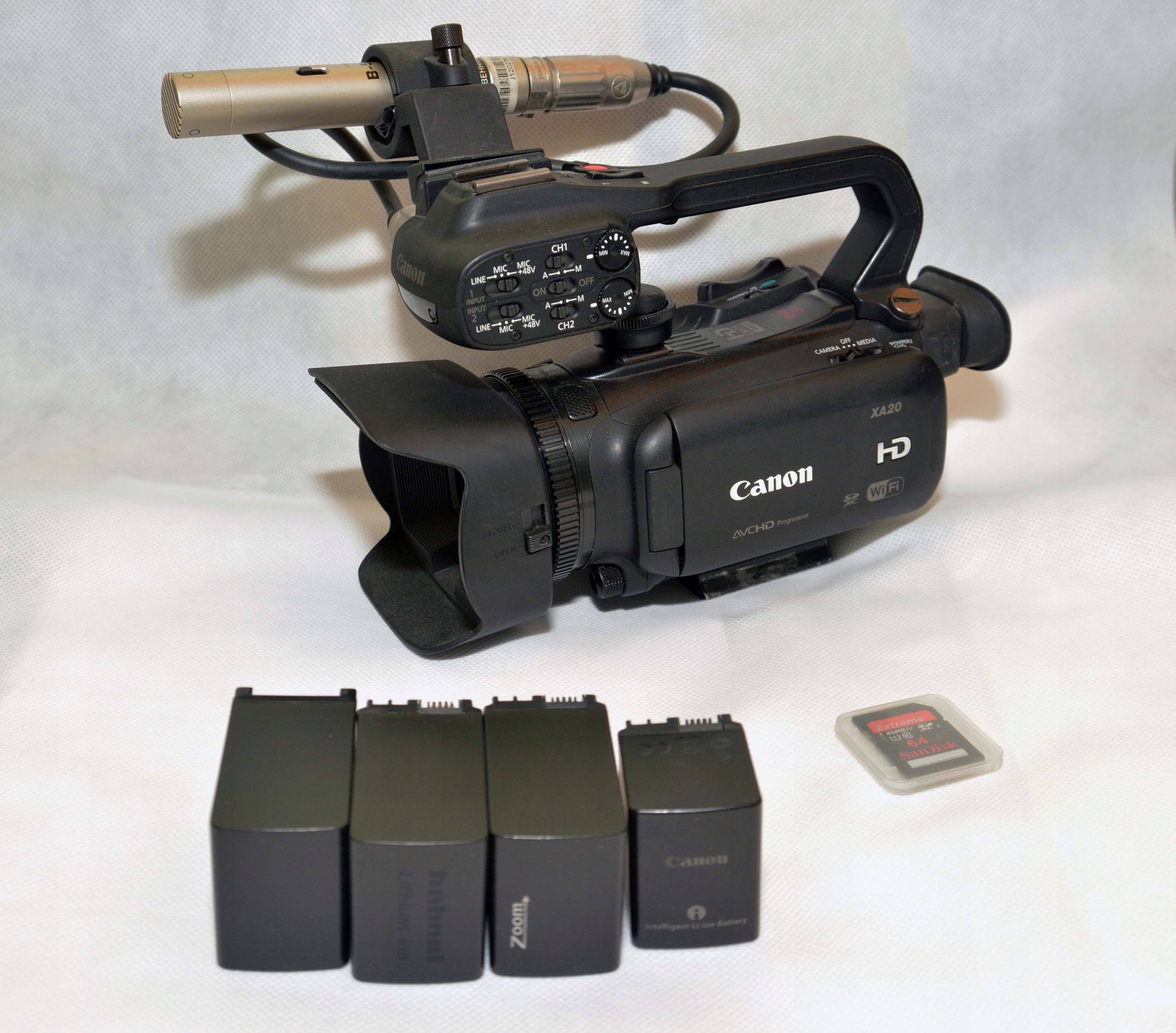 kamera Canon XA 20 + karta 64GB + mikrofon B-5