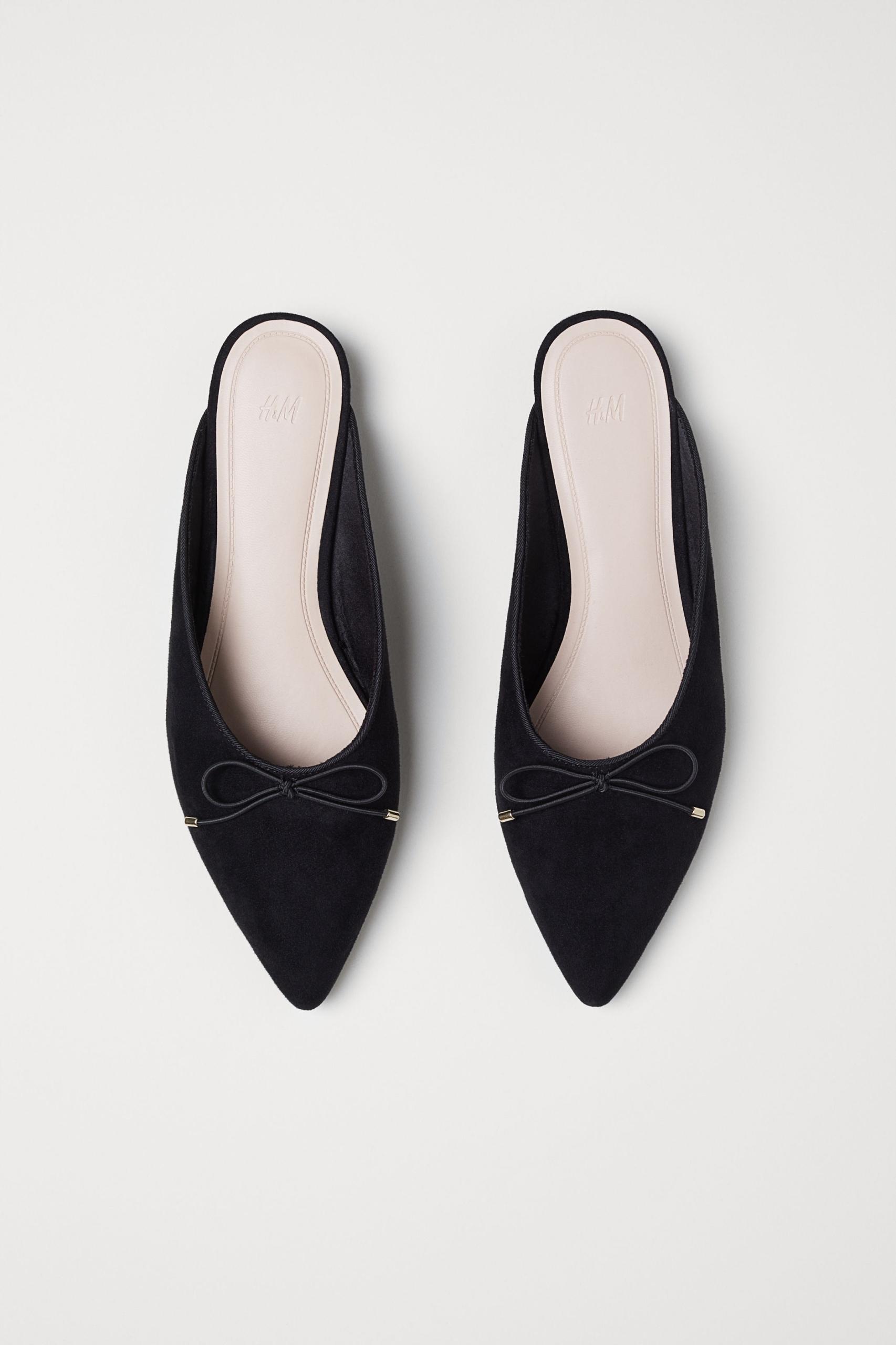 Czarne klapki eleganckie mules H&M nowe 39