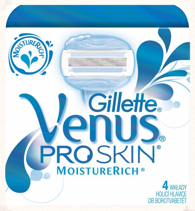 Gillette Venus Proskin Moistureri. wkłady a 4 szt.