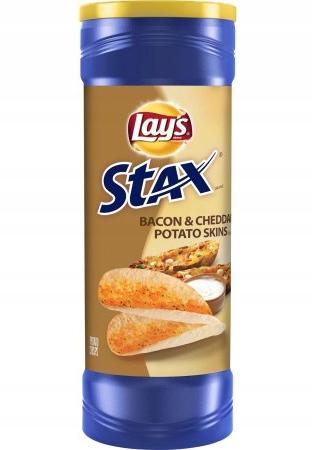 Chipsy Lay's Stax Bacon&Cheddar Potato Skins