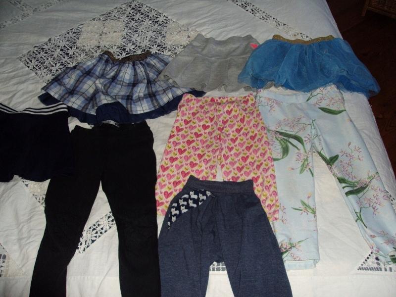 Zestaw ubrań dziewczęcych od 92 do 110