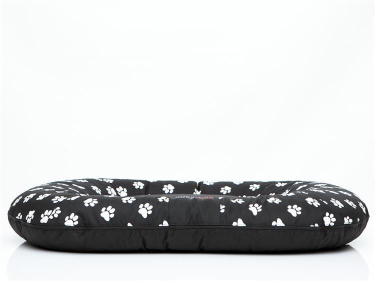 Legowisko dla psa 110x90 cm Czarne w łapki