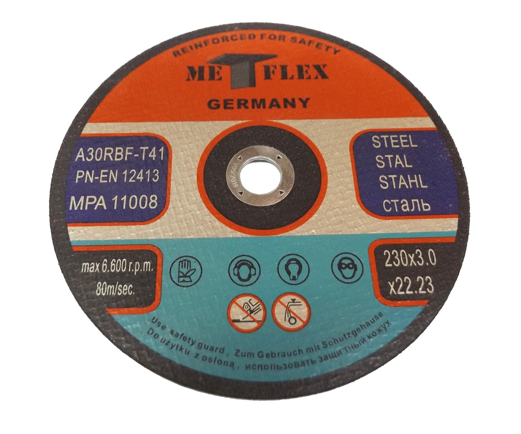 Tarcza tarcze do cięcia stali metalu METF 230x3,0