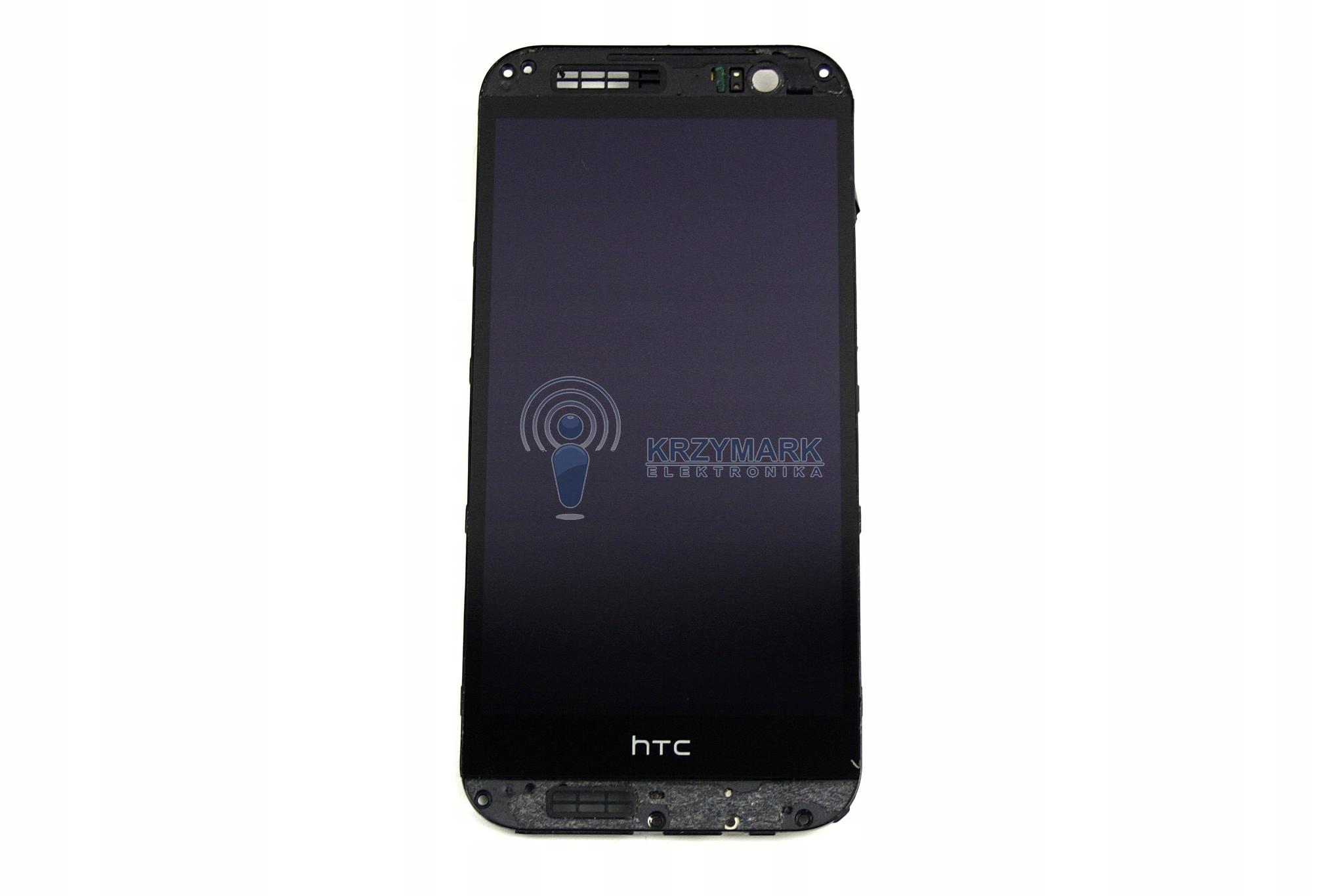 ONE HTC M8 WYŚWIETLACZ LCD DOTYK CZARNY RAMKA