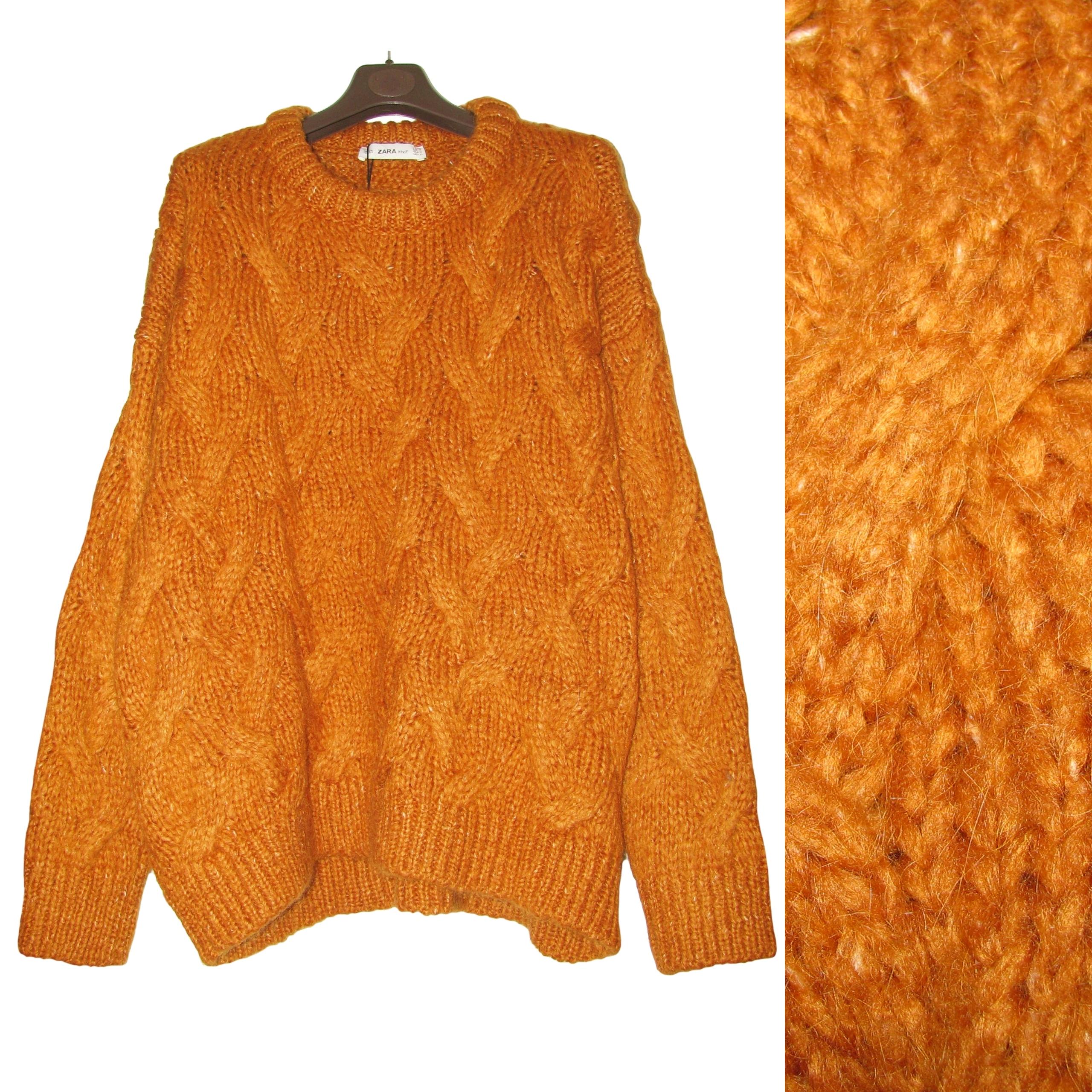 Zara świetny blogerski sweter z bufiastymi rękawami rozmiar