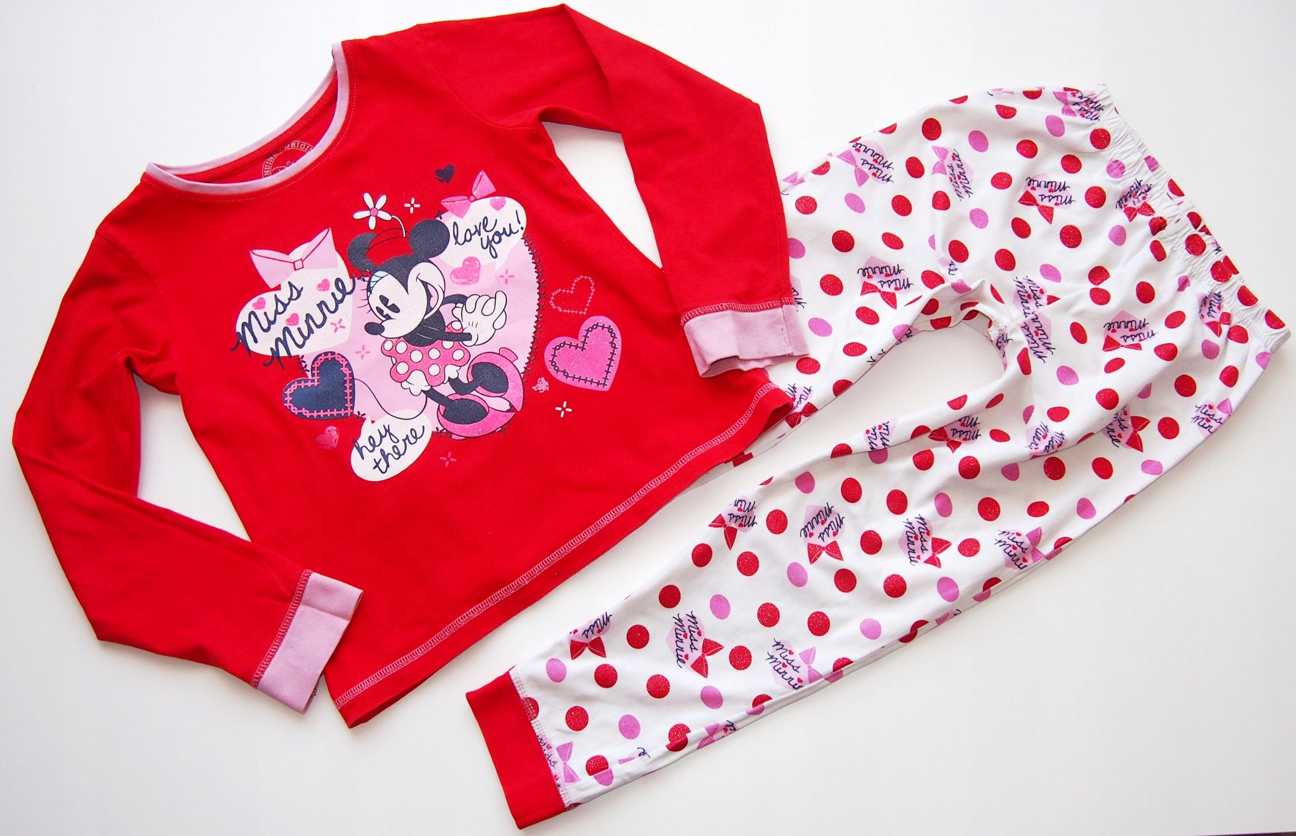 Disney Piżamka 128/7-8l Myszka Minnie