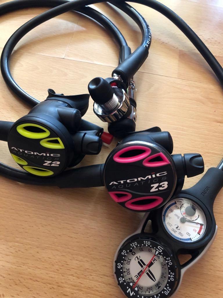 Komplet Atomic Z3+Octopus Z2+manometr+ kompas.NOWY