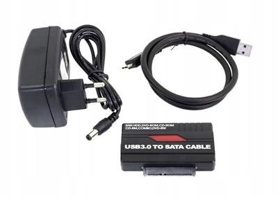 ADAPTER KONWERTER USB 3.0 SATA 2.5 3.5 DYSKI NAPĘD