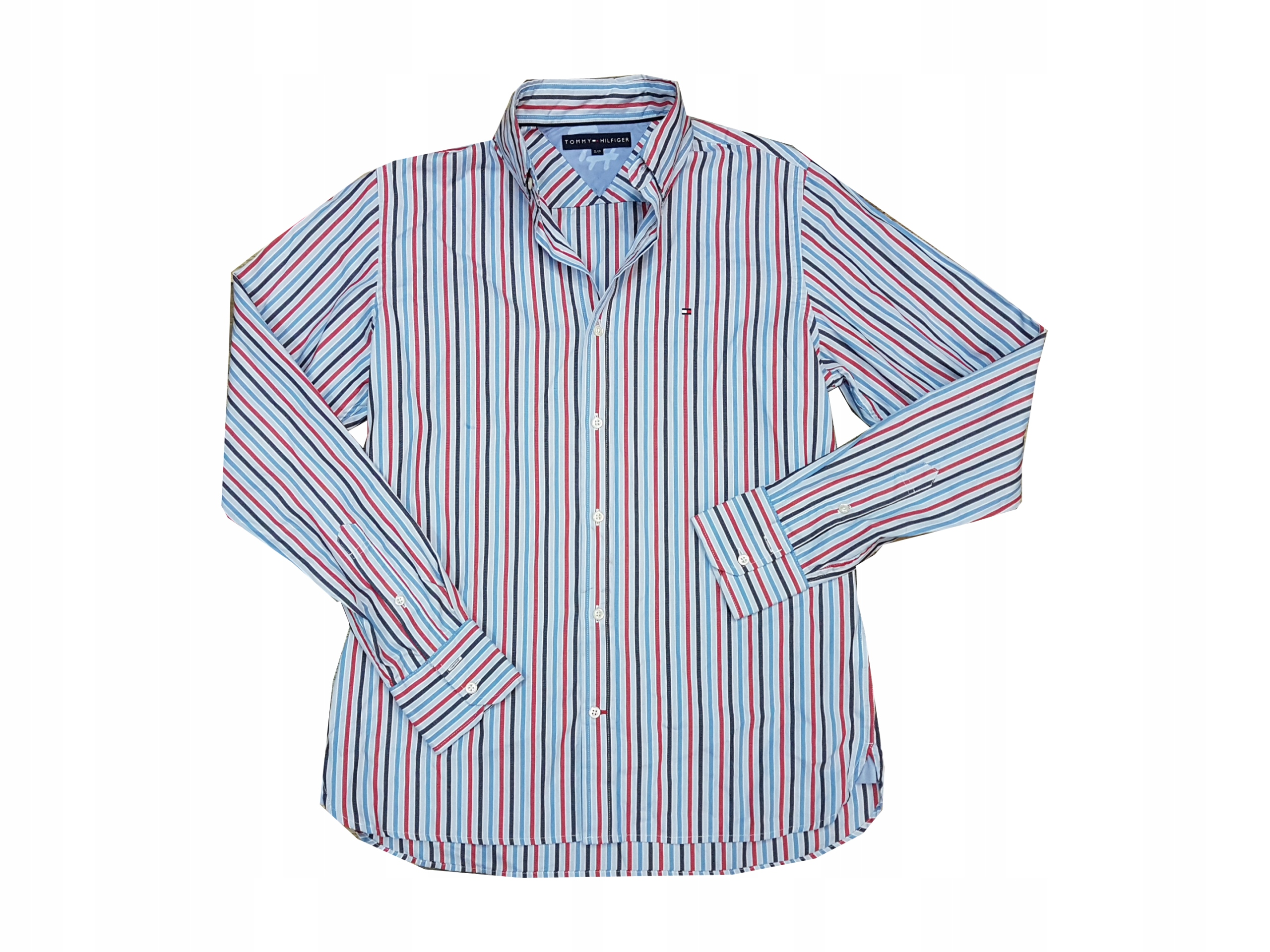 TOMMY HILFIGER koszula męska w paski Slim Fit S