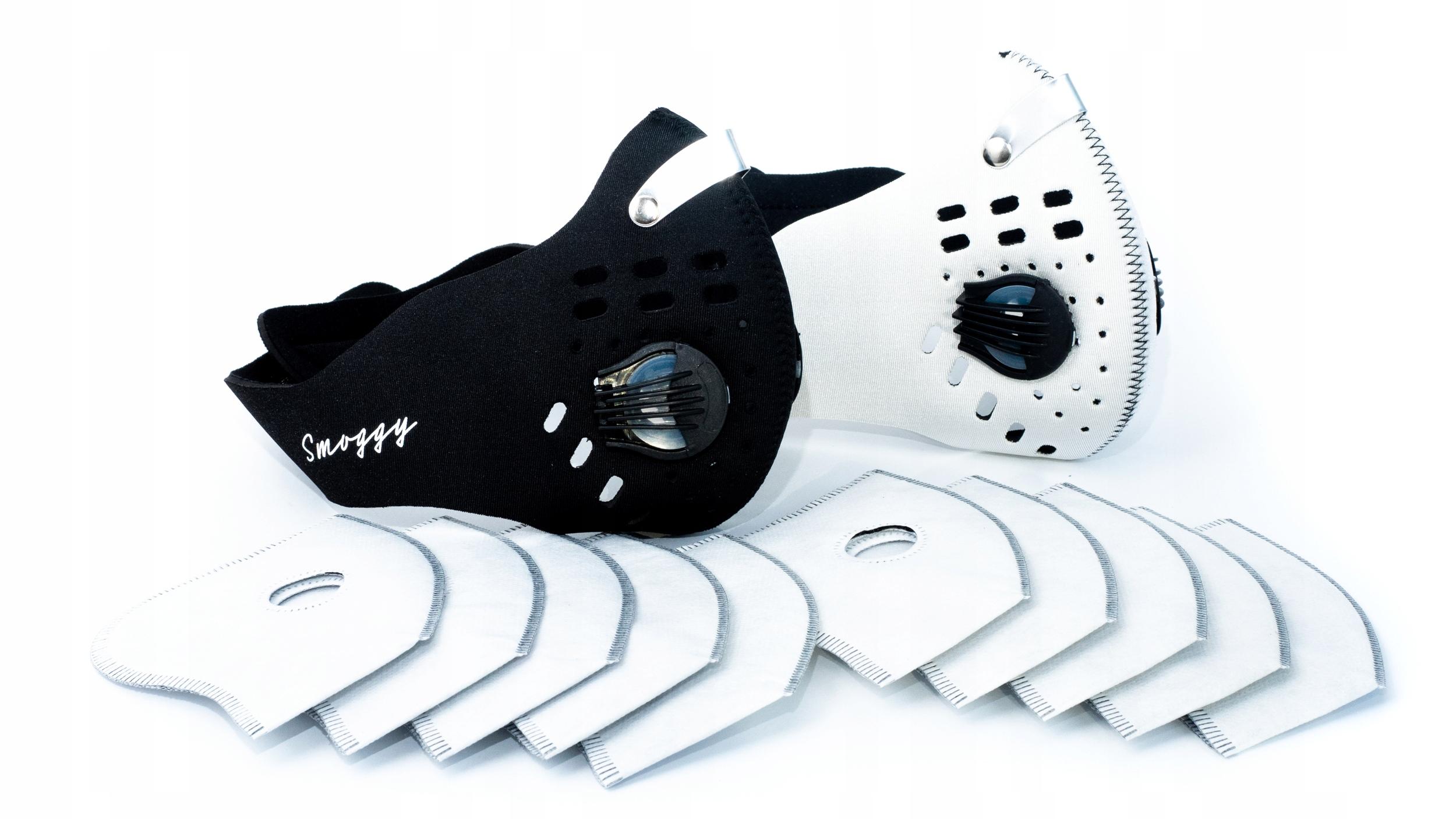 2x Maska antysmogowa +10x filtr N99 HEPA pm2.5