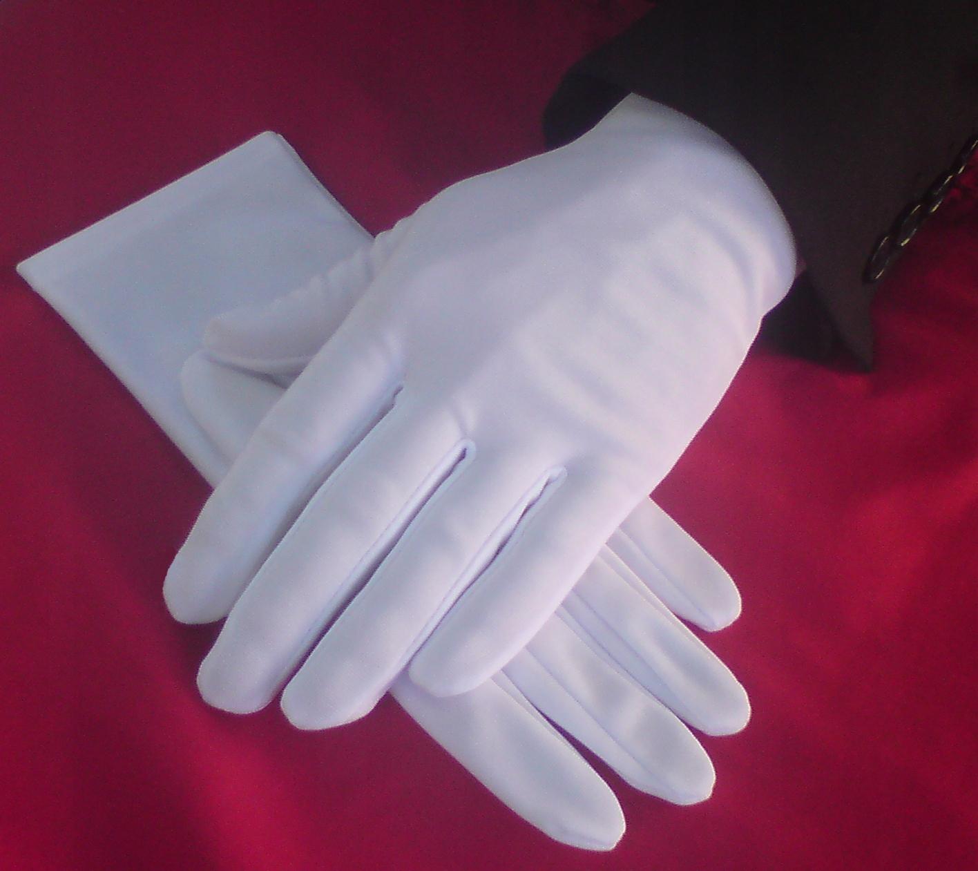 Rękawiczki galowe białe damskie S-L