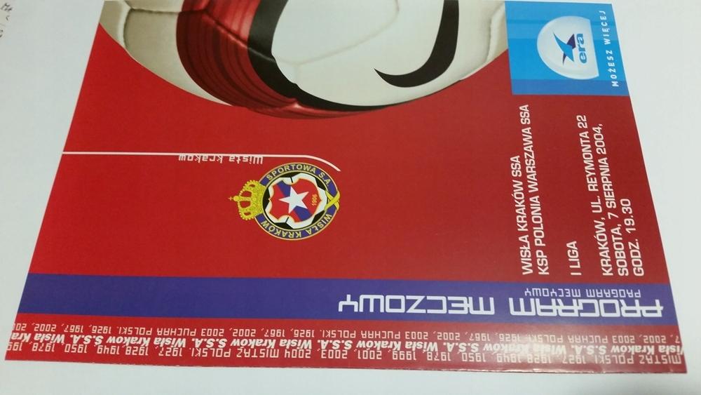 program WISŁA Kraków - ODRA Wodzisław 2004