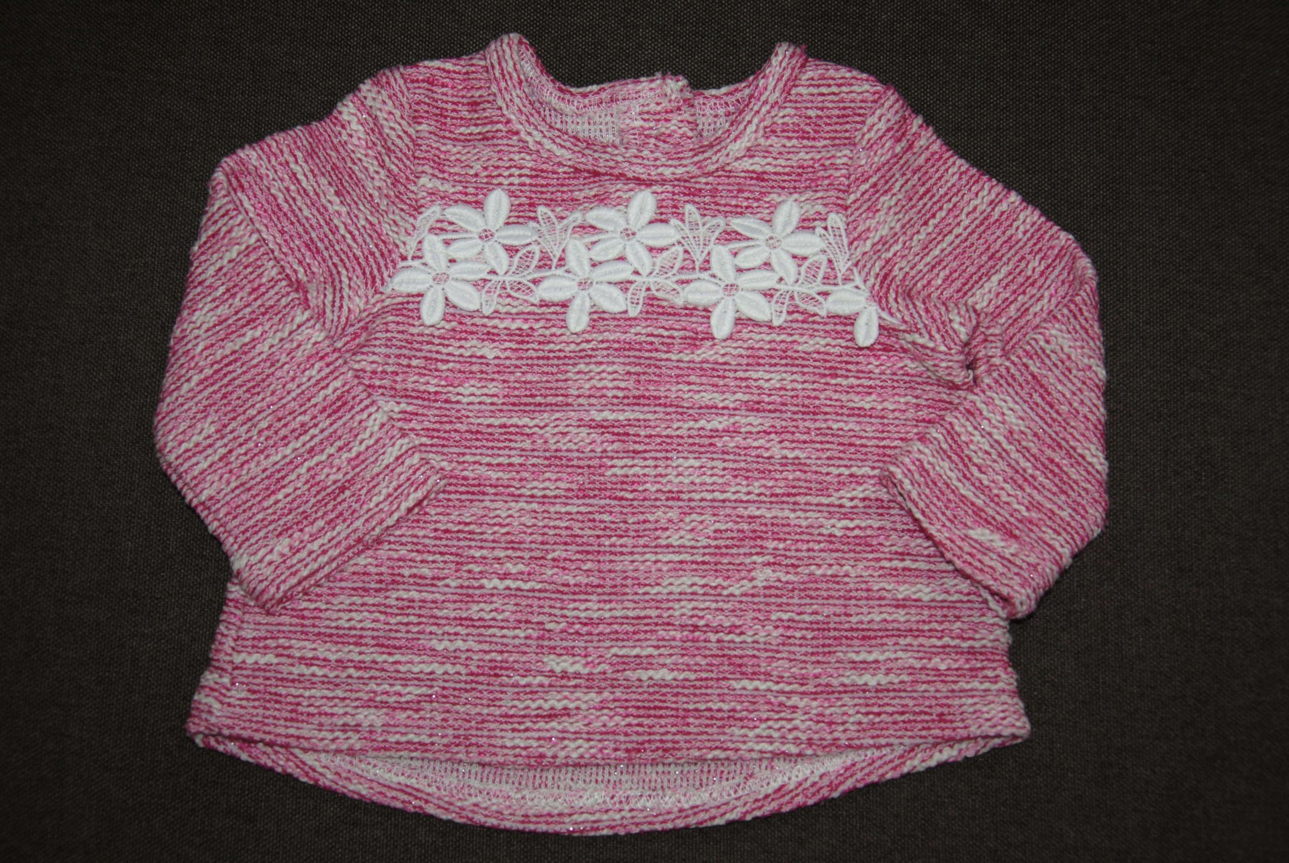 Early Days bluza- sweterek koronka duże 68 małe 74