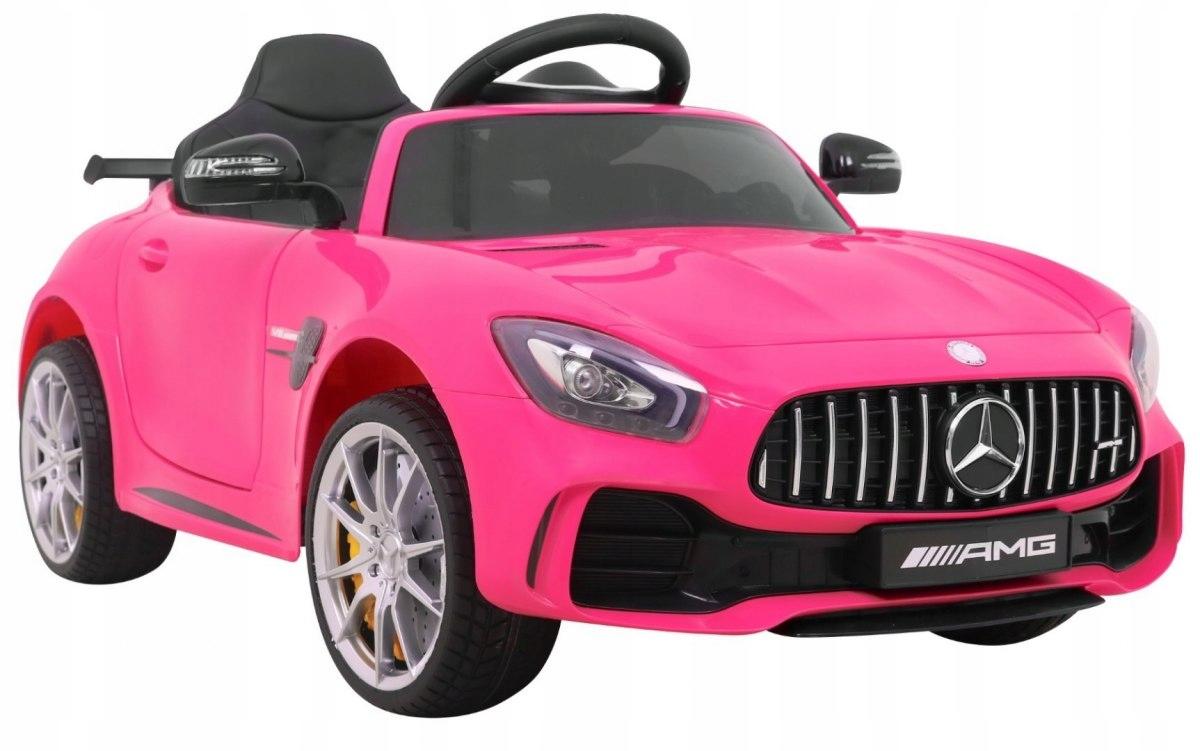 Mercedes AMG GT R pianka rejestracja różowy