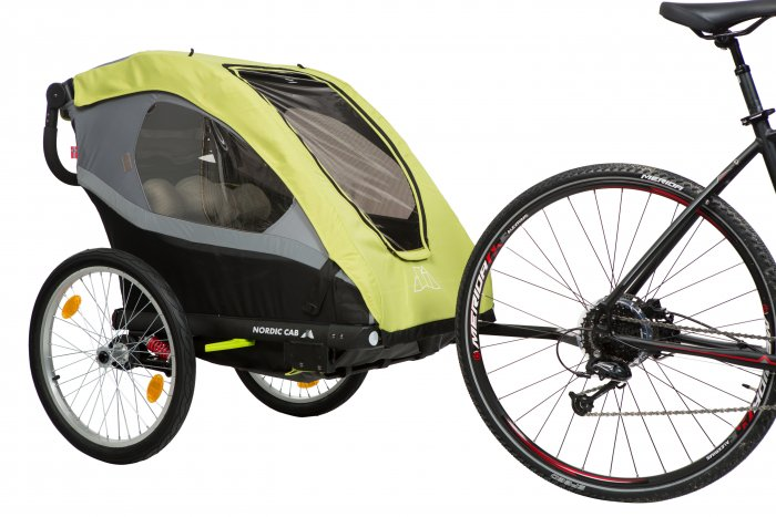 Przyczepka rowerowa Nordic Cab Active 2w1 + lampki