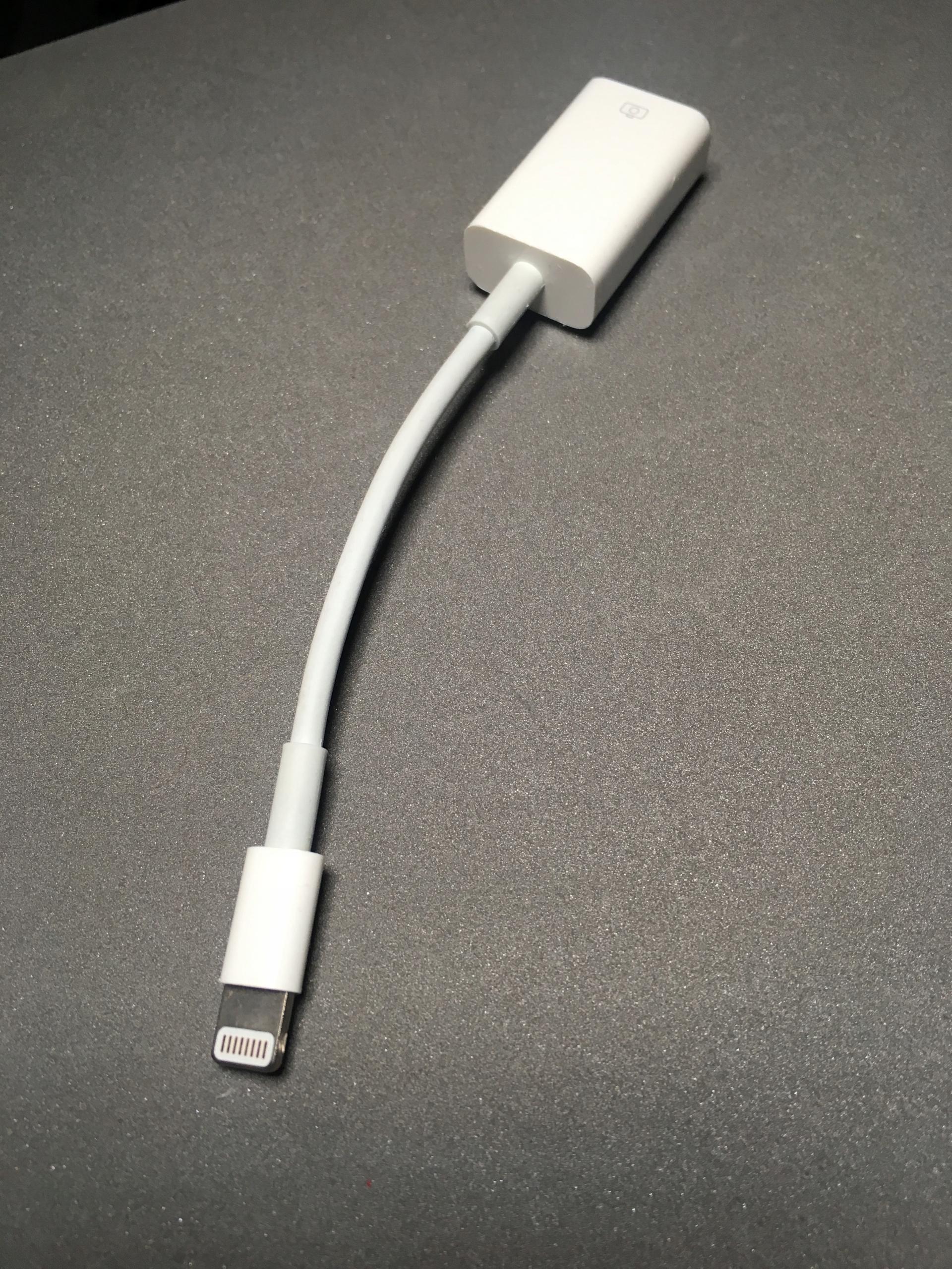 Przejściówka ze złącza Lightning na USB aparat