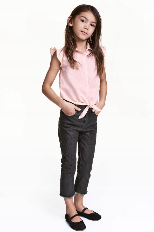 H&M spodnie RYBACZKI jeansy z łatami 104