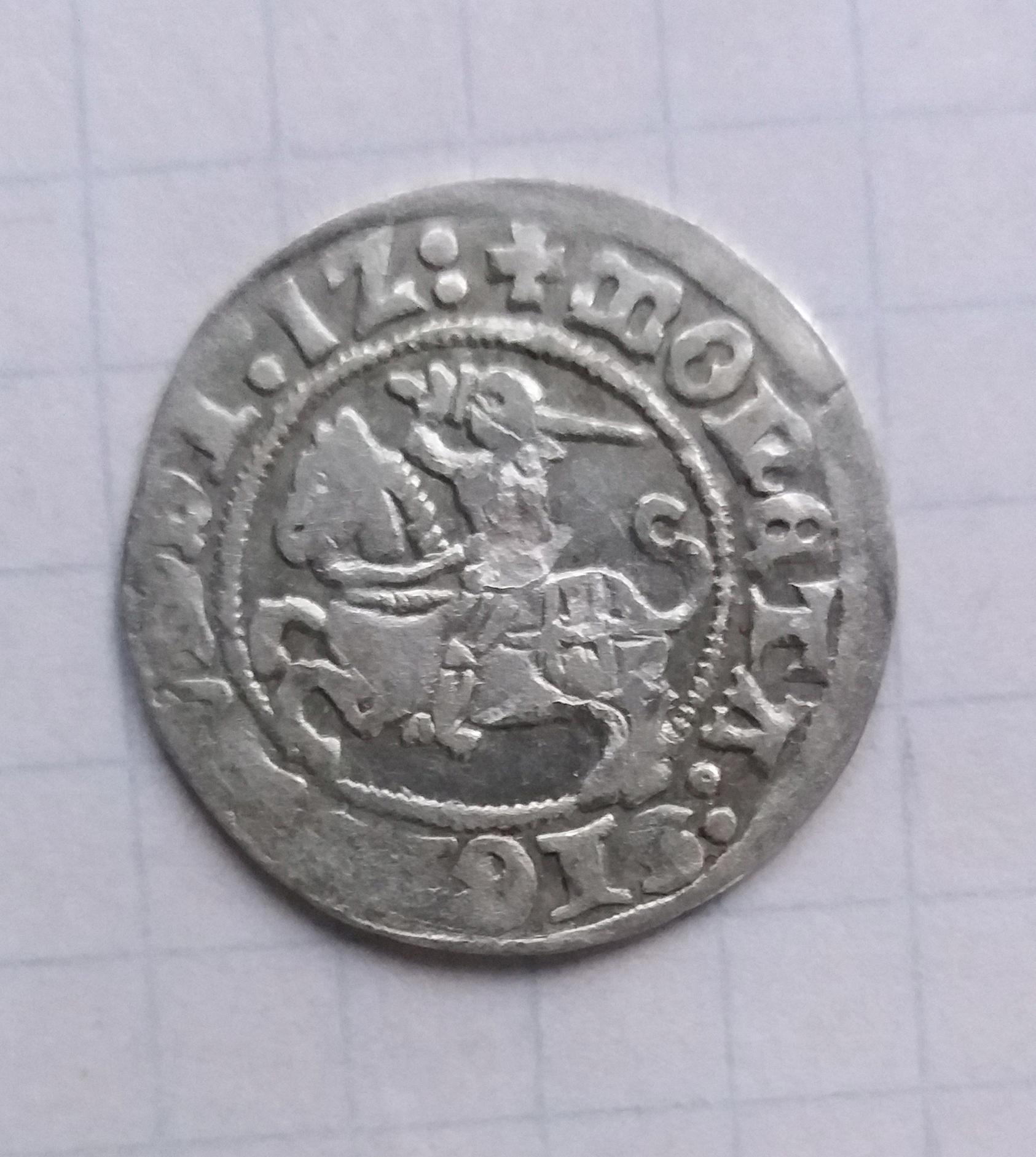 Półgrosz litewski Zygmunt I Stary 1512 r. (3)
