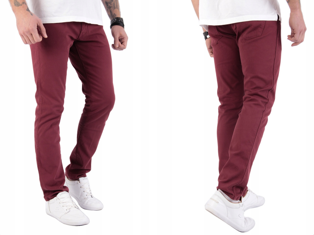 Wrangler Larston Cordovan Red Slim spodnie W31 L30