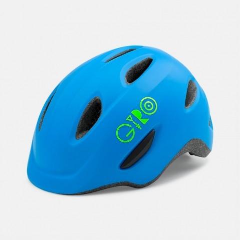 Kask dziecięcy Giro Scamp Matte Blue-Lime XS 47-51
