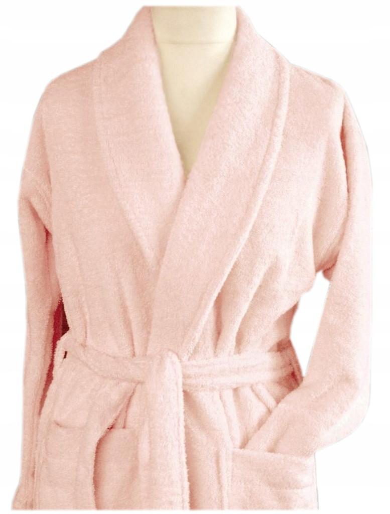 Szlafrok płaszcz kąpielowy Cortina M różowy Greno