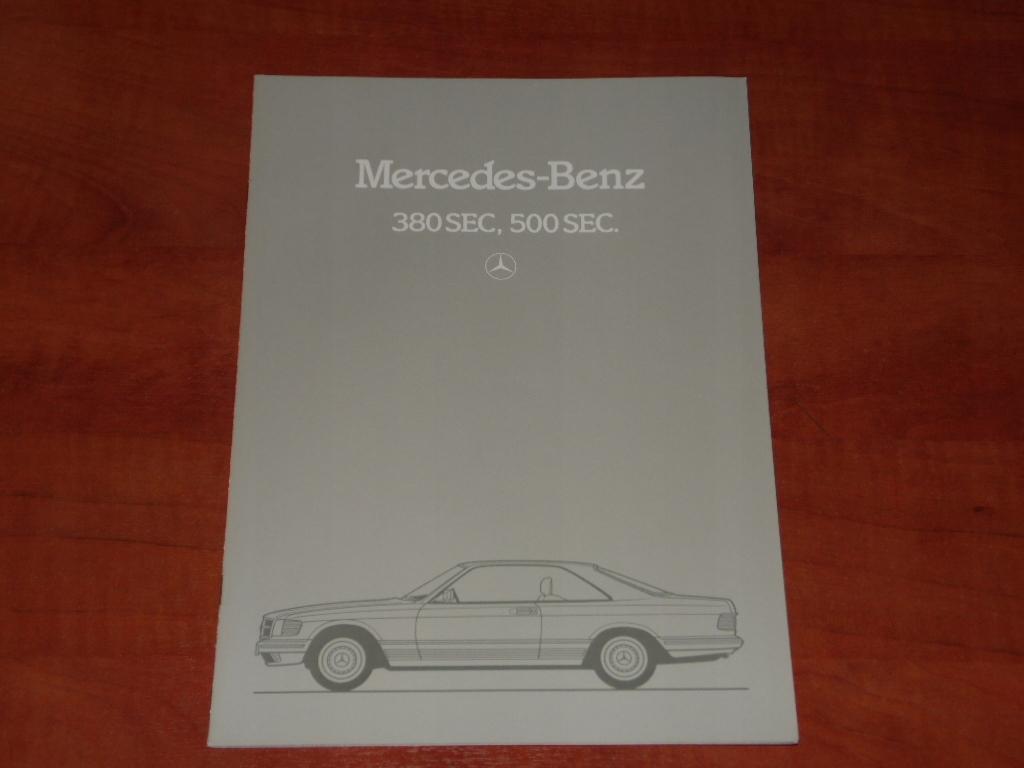 Prospekt Mercedes W126 SEC 380-500 SEC - Rok 1983