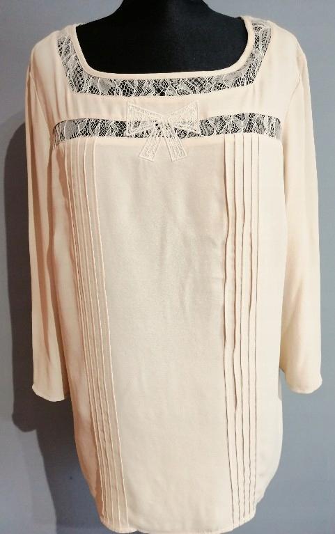 Śliczna bluzka beżowa M&S_42/44