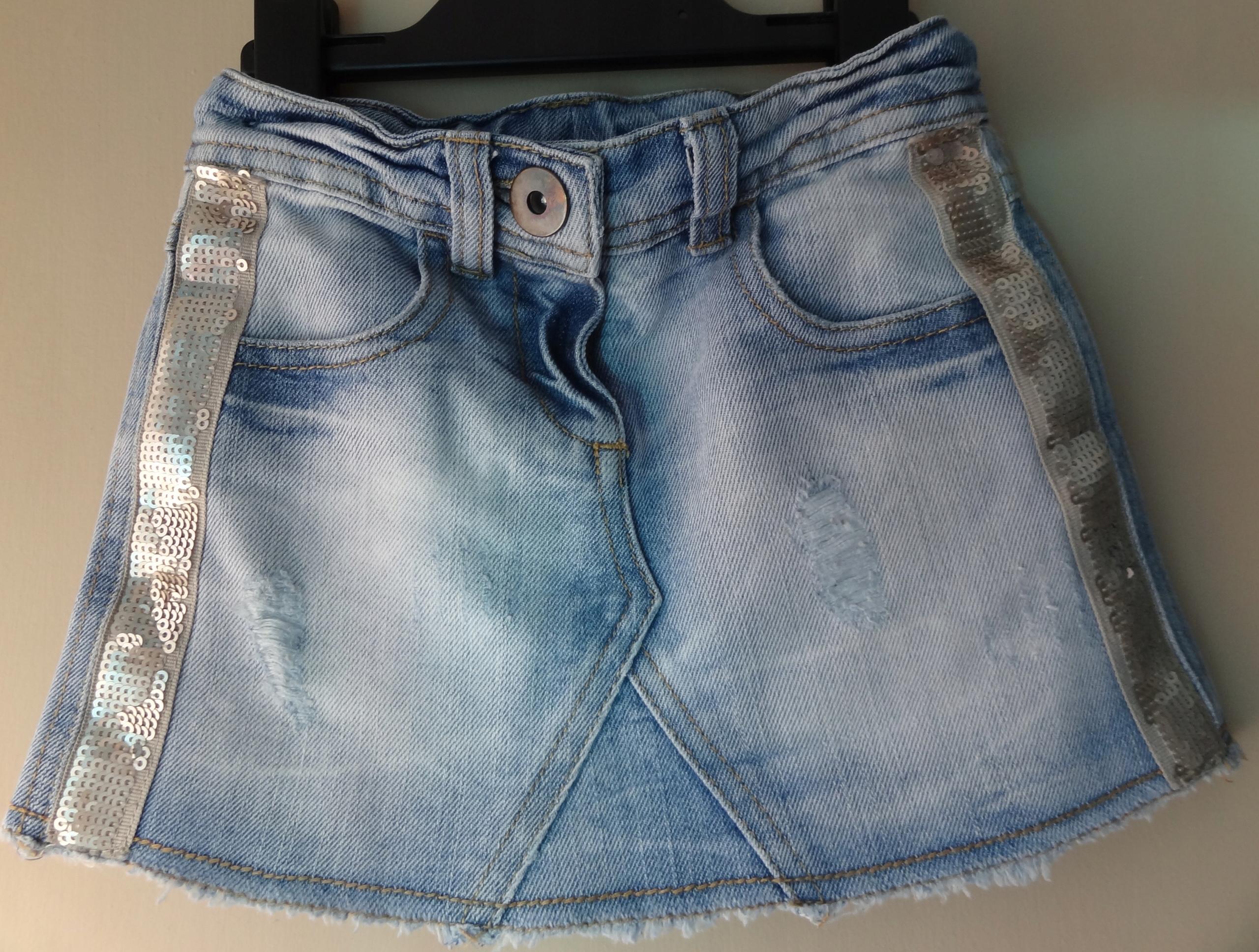 spódniczka spódnica jeansowa next 98